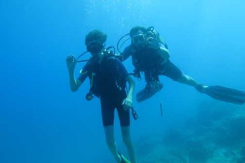 Scuba try-dive.