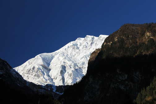 Lamjung Himal from Chame