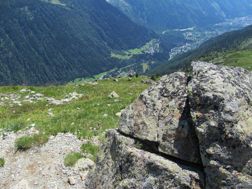 Neil Pittaway Looking down not Chamonix form a high mountain path