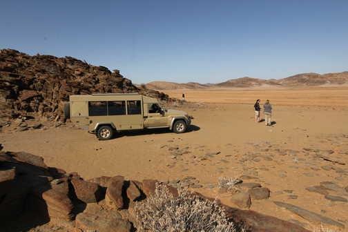 Across the desert