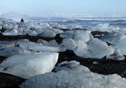 Jokulsarlon Glacial Lagoon beach