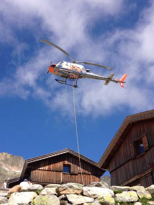 Delivery of Supplies Lac Blanc