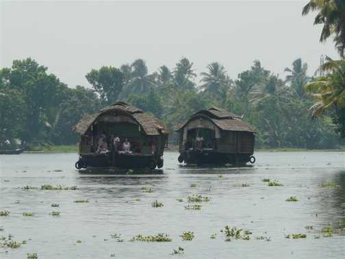 Houseboats carrying the rest of the group.