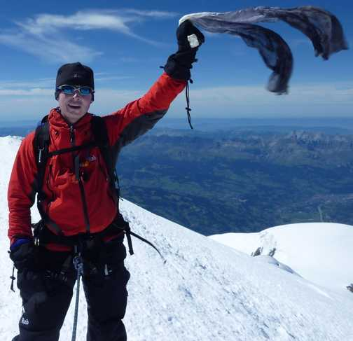 me on the summit of mont blanc