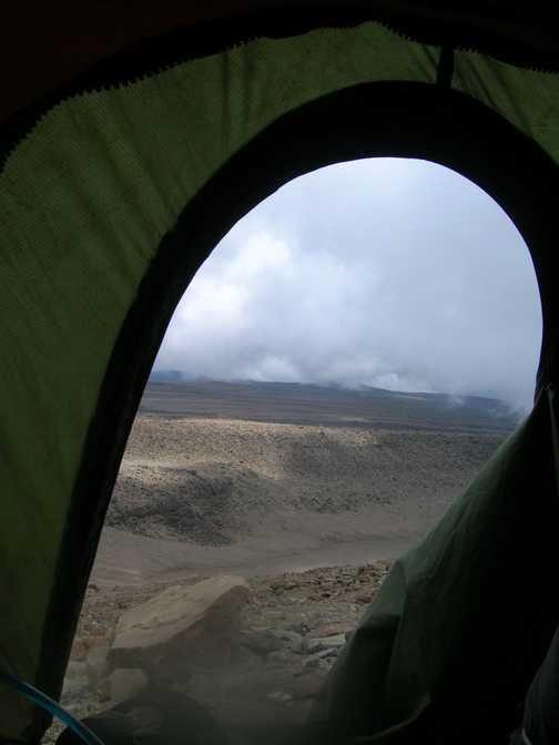 Barafu Campsite 4600m evening before summit bid.