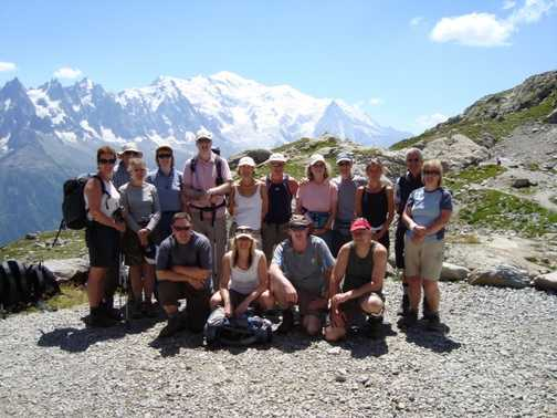 the group at lac blanc
