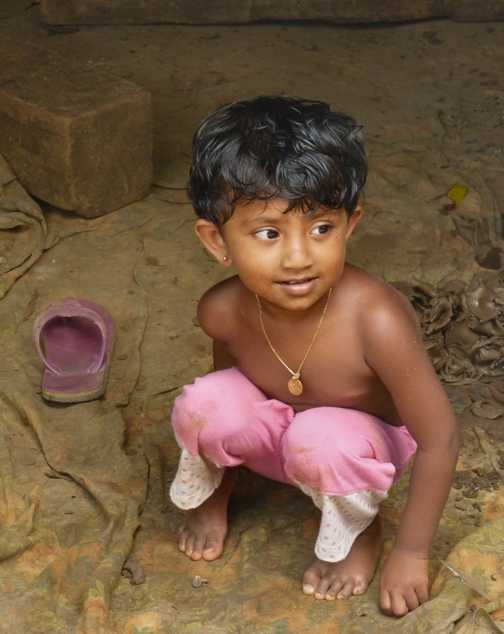 Young child at the pottery