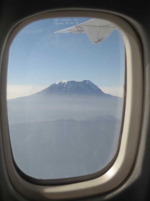First glimpse of Kilimanjaro