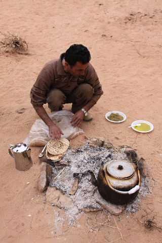 Breakfast  Wadi Rum