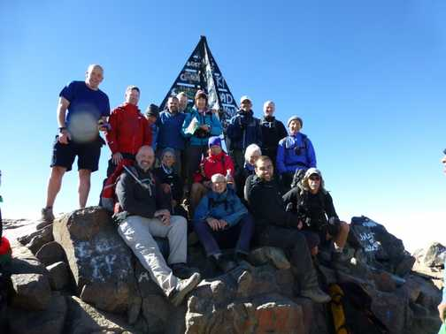 Toubkal summit group shot