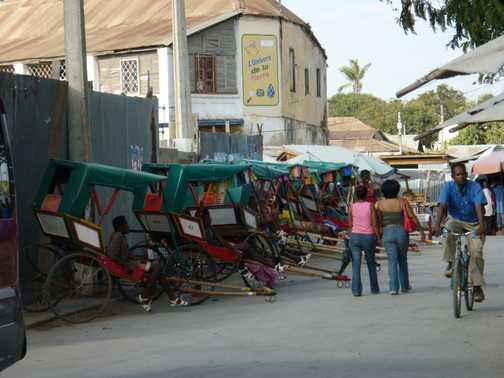 Rickshaws in Tulear
