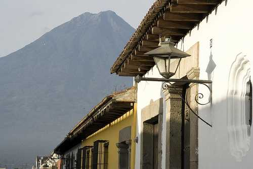 Eaves and Volcán Agua