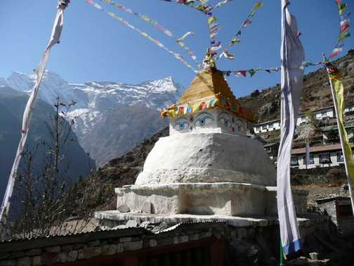 Stupa at Namchee Bazaar