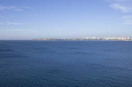 Dakar seen from Goree Island