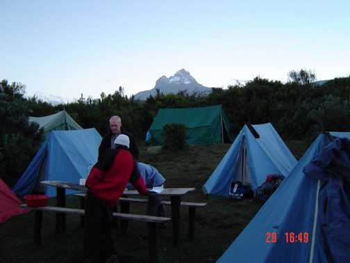 First camp (Mawenzi in the background)