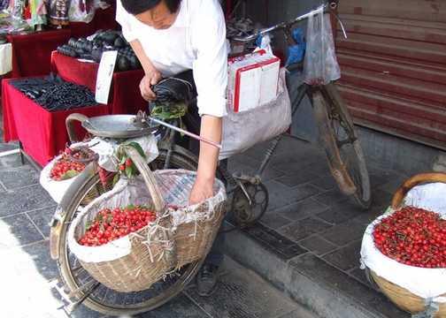 Cherries for sale Xian