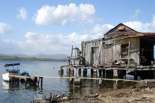 Fisherman's hut on an island where the people are kind and the rest of the world seems far away.