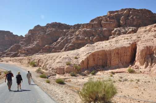 Strolling towards Petra