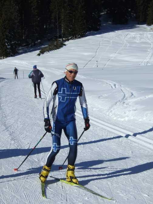 Local skiier