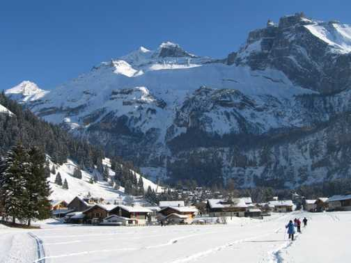 The end of another walk, on the way back to Kandersteg.