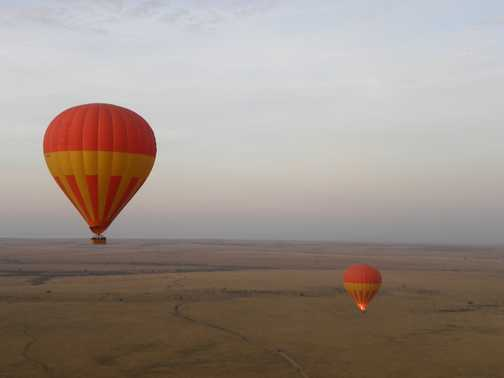 Floating over the Mara