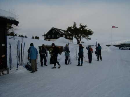 At the ski store