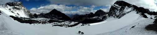 Looking back from Thamser Pass