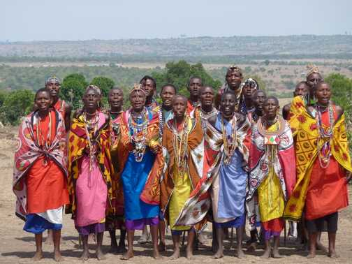 Masai village welcome