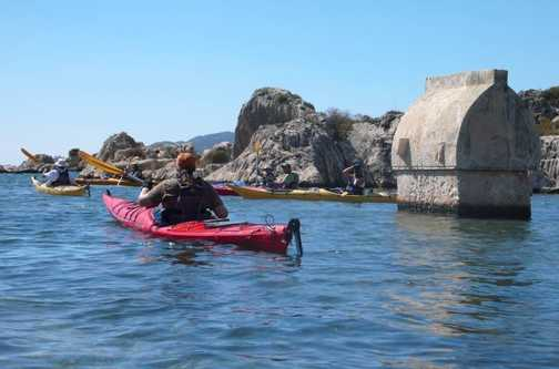 Kayaking the sunken city at Simena