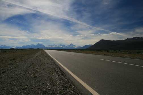 Fitz Roy Range on road to El Chalten