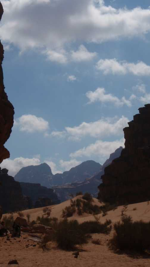 Looking back into Wadi Rum