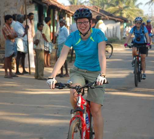 Cycling through villages
