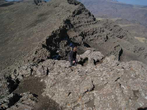 Summit ridge to Ras Dashen