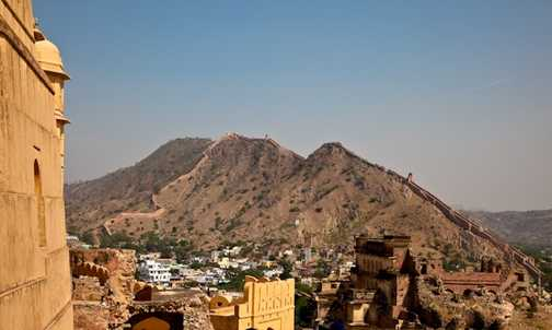 Stunning scenery from the Amber Palace, Jaipur