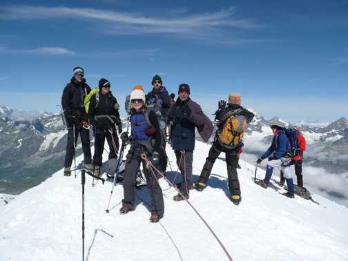 The Breithorn summit with a few of us posers