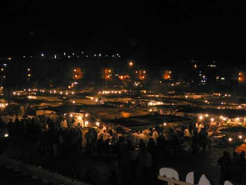 Marrakech at night 2