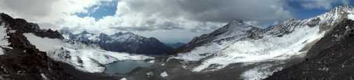 Looking forward from Thamser Pass