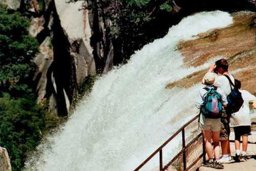 top of hte falls in Yosemite