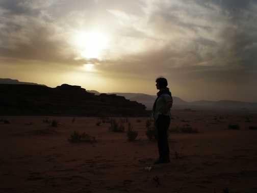 Sunrise in the Wadi Rum