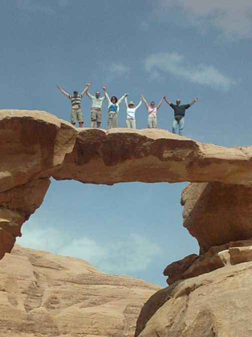 Rock bridge at Wadi Rum