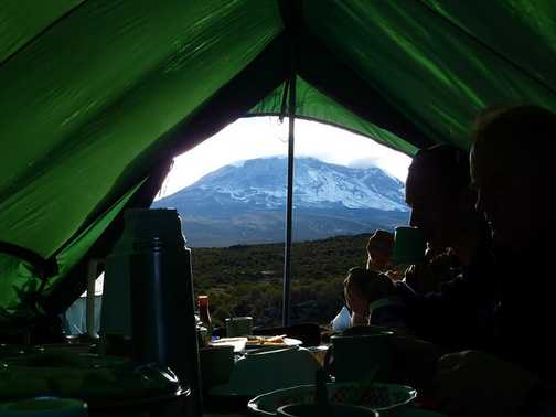 mess tent with a view