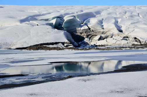 Start of glacier