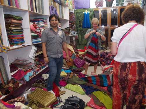 wonderful silk shop at Varanasi