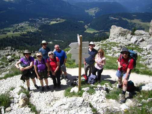 Group B above Vigo di Fassa