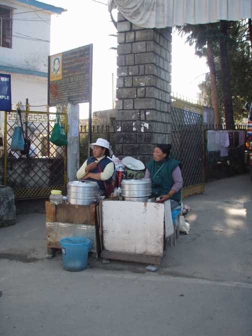 Food stalls at Mcleod Ganj