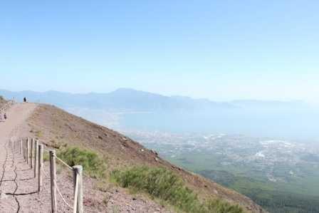 View of Vesuvius from Capri