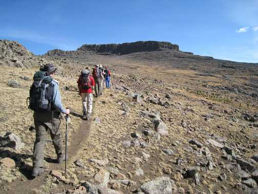 Approaching the summit of Ras Dashen