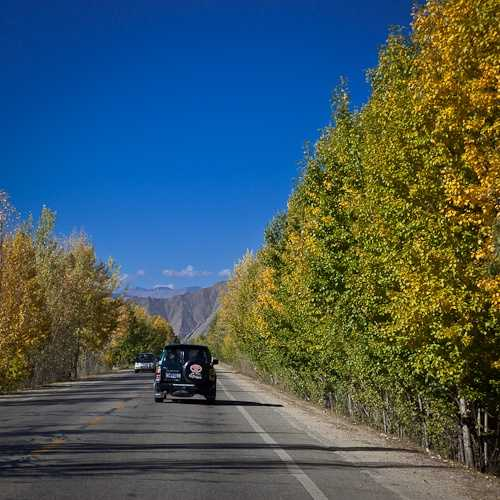 Autumnal changes along the Friendship Highway