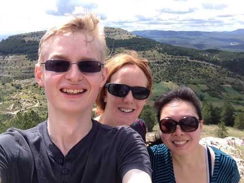 Selfie after a tough ascent