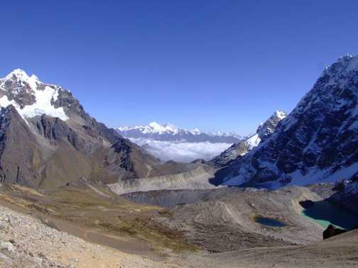 View from Inca Chiriasqa pass